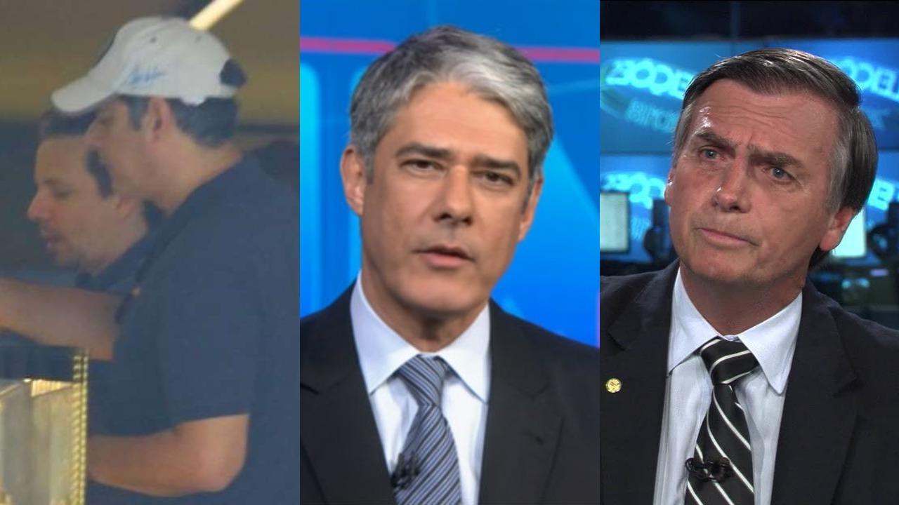 William Bonner e Jair Bolsonaro (Foto: Reprodução/TV Globo/AgNews/Montagem TV Foco)