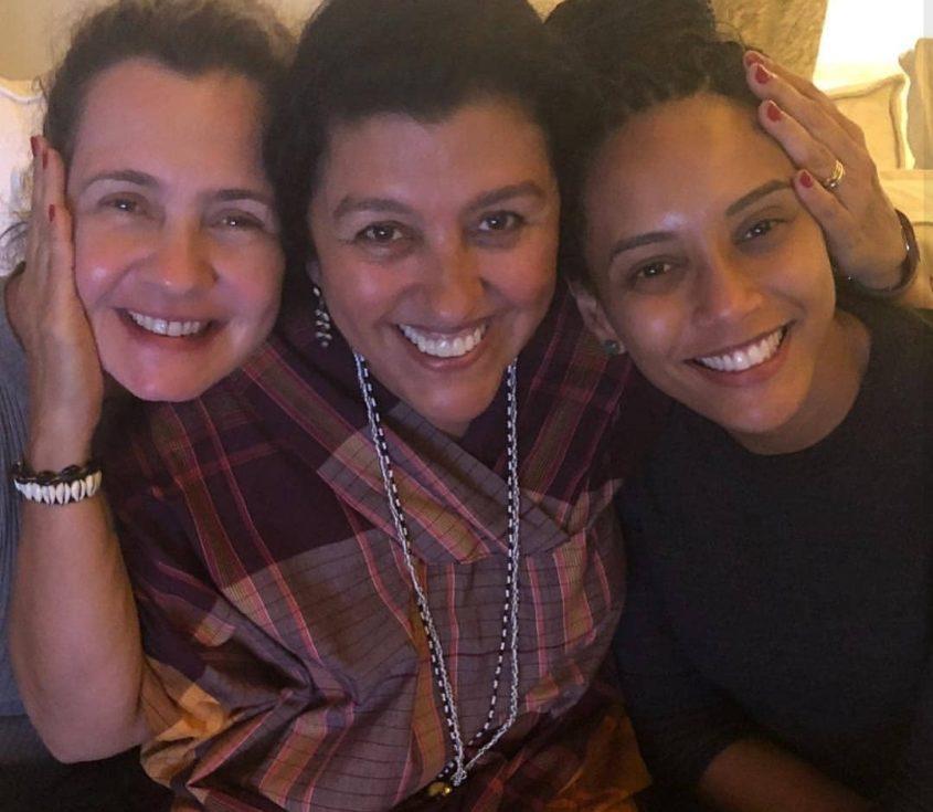Regina Casé, Adriana Esteves, Taís Araujo nos bastidores de Amor de Mãe