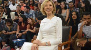 A jornalista Marília Gabriela no programa Altas Horas (Foto: Reprodução)