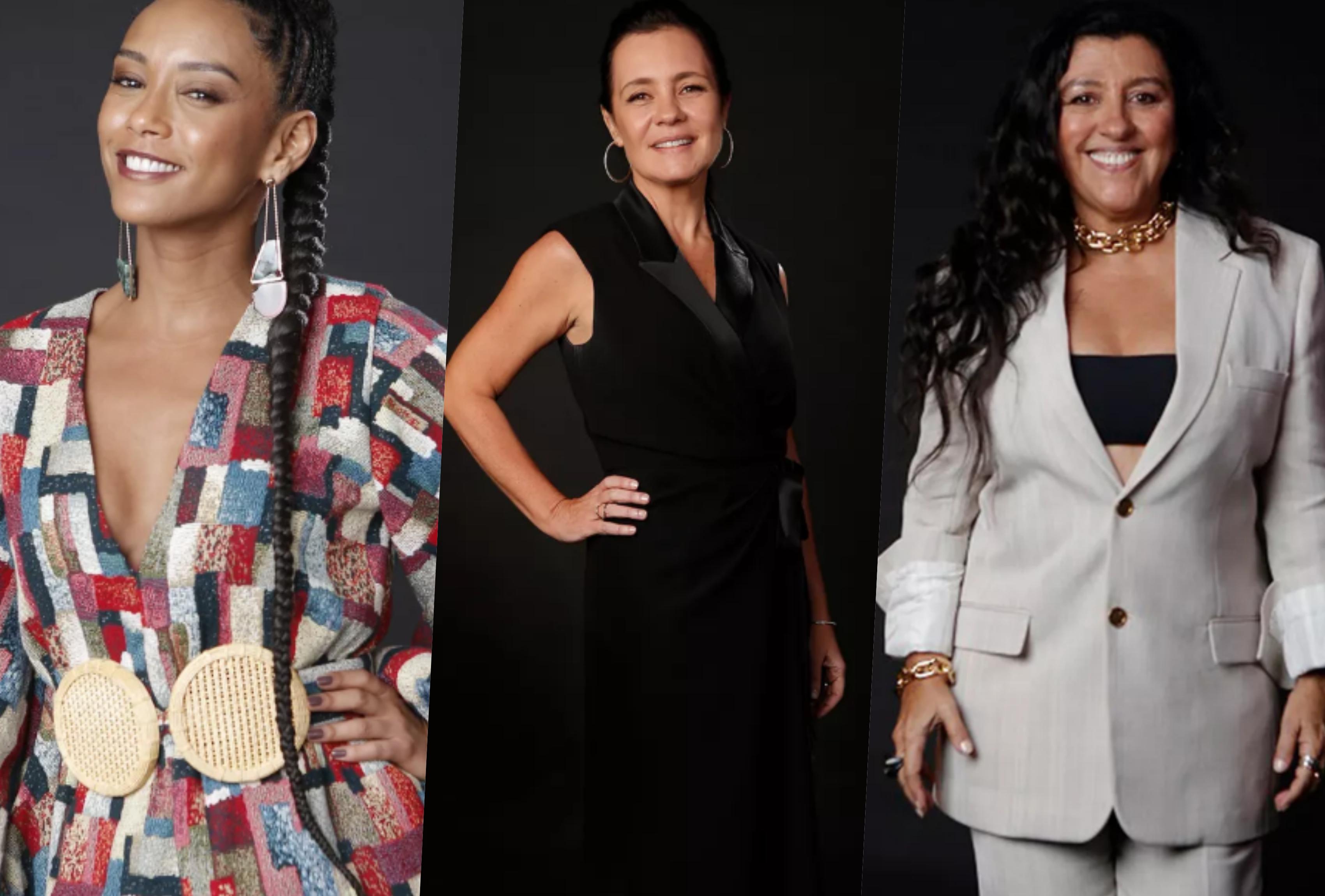 Adriana Esteves é Thelma, Taís Araújo é Vitória e Regina Casé é Lurdes em Amor de Mãe da Globo (Foto montagem: Gshow)