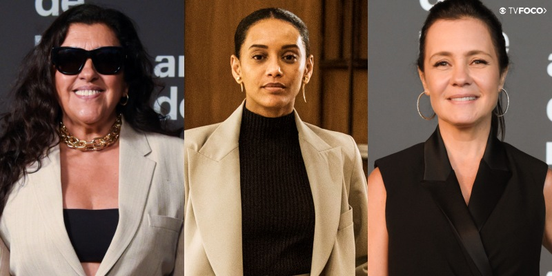 Adriana Esteves, Regina Casé e Taís Araujo, protagonistas Amor de Mãe; estrelas devem perder mordomias (Foto: Divulgação/Globo/Montagem)