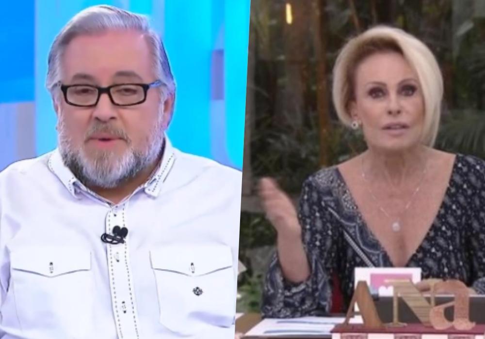 Ana Maria Braga e Leão Lobo tiveram brigas no passado e apresentador acabou expondo a apresentadora da Globo (Foto: montagem)