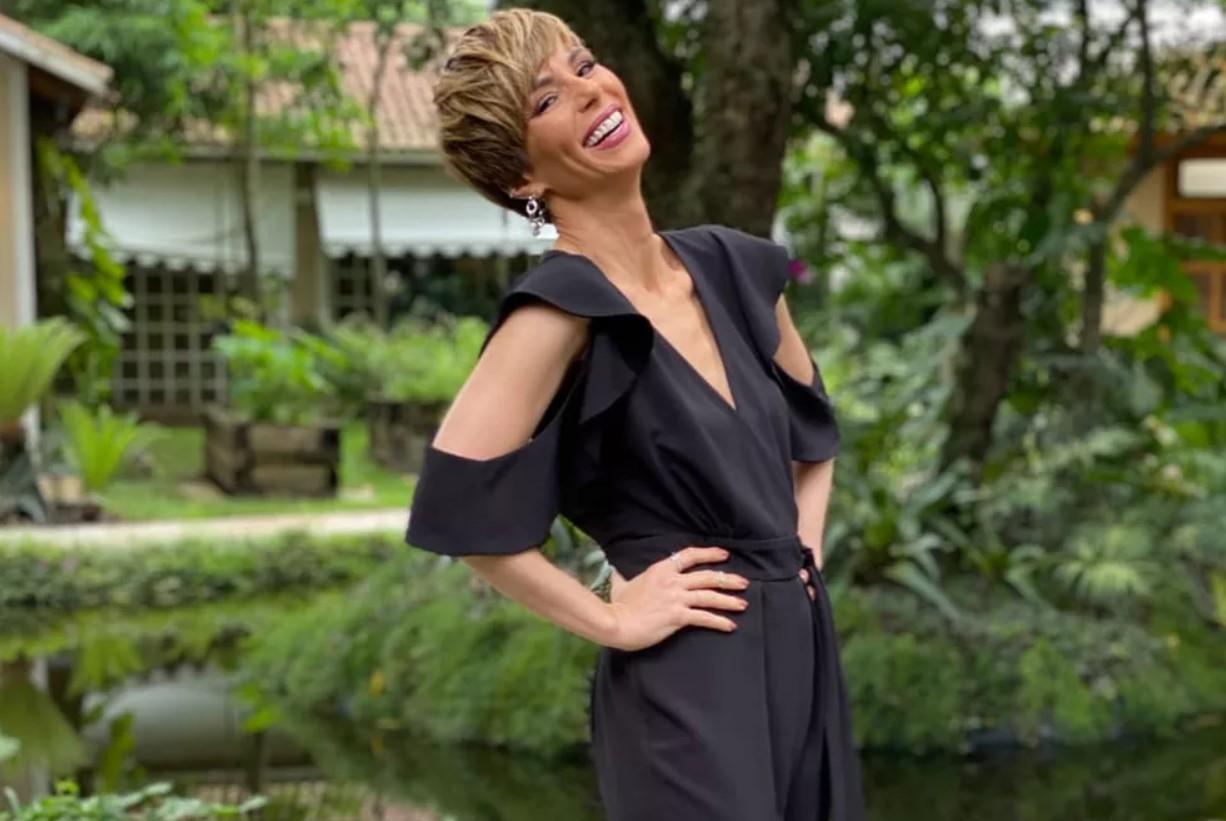 A apresentadora Ana Furtado no comando do programa É de Casa, da Globo (Foto: Reprodução))