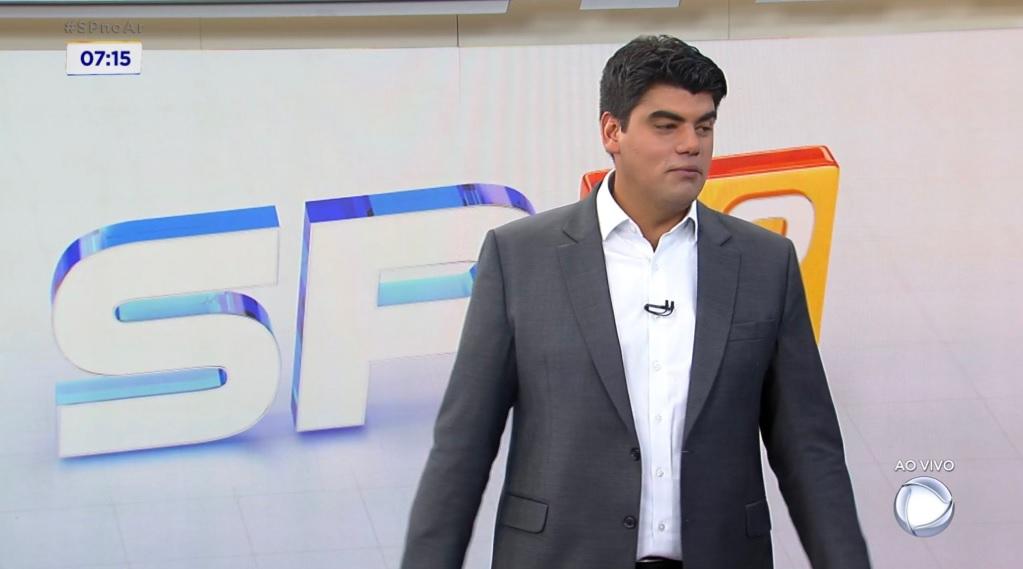 André Azeredo foi um dos últimos apresentadores do SP No Ar (Foto: Reprodução)