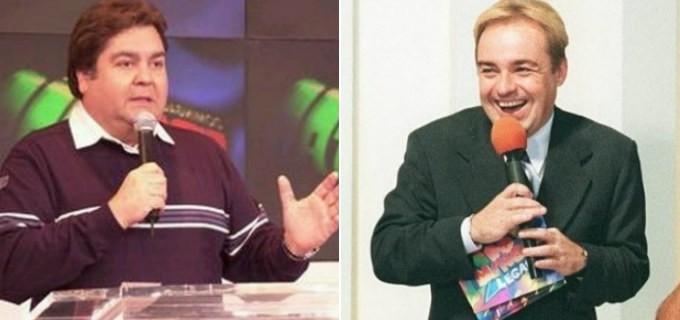 Gugu e Faustão marcaram a TV por décadas (Foto reprodução)