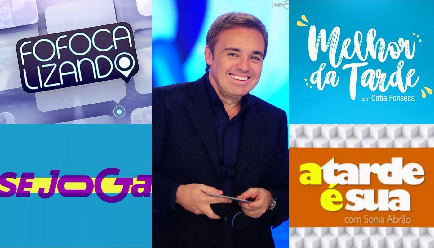 Programas de fofocas fazem homenagens ao apresentador Gugu Liberato. Foto: Reprodução AUDIÊNCIAS audiência