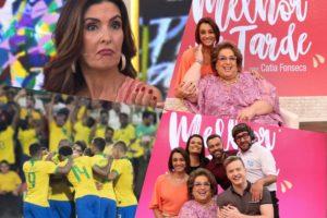 Fátima Bernardes é humilhada por seleção brasileira e Mamma vai para o Melhor da Tarde. Foto: Reprodução audiência audiências