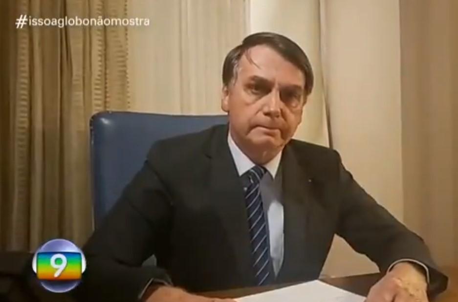 O presidente Jair Bolsonaro durante o quadro da Globo (Foto: Reprodução)