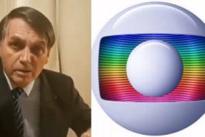 Jair Bolsonaro não vai com a 'cara' da TV Globo (Foto: Montagem)