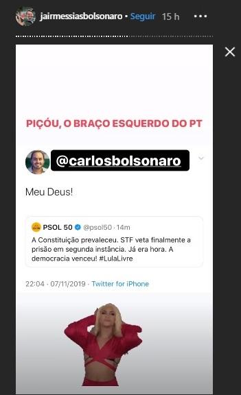 Bolsonaro usou GIF de Pabllo Vittar em suas redes sociais