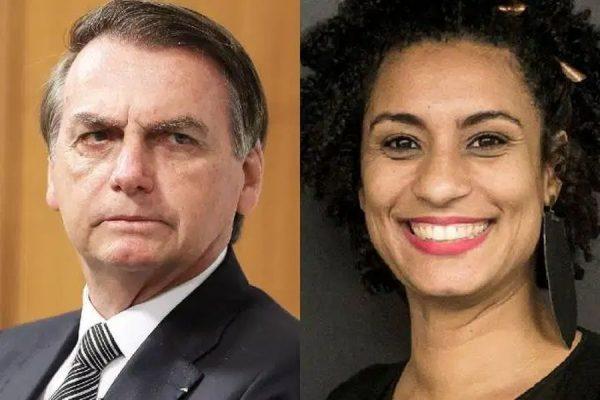 O presidente Jair Bolsonaro foi envolvido no caso da vereadora Marielle Franco (Foto: Montagem)