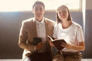 Reynaldo Gianecchini (Régis) e Agatha Moreira (Josiane) nos bastidores de A Dona do Pedaço (Foto: Reprodução/Instagram)
