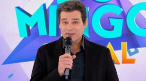 Celso Portiolli no Domingo Legal que teve audiência recorde com homenagem a Gugu (Foto: Reprodução/SBT)