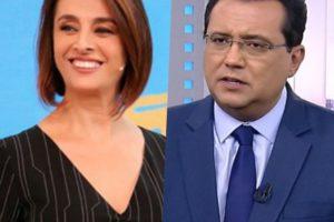 Geraldo Luís e Catia Fonseca concorrem no mesmo horário, mas são grandes amigos (Foto reprodução)