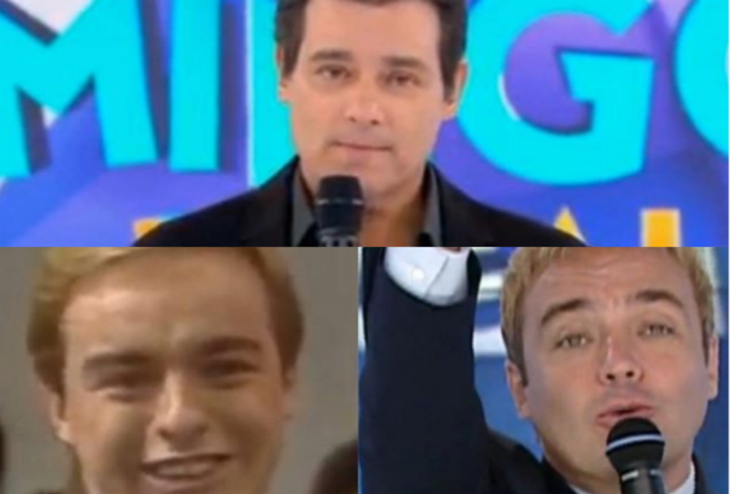 Celso Portiolli ficou bastante emocionado no Domingo Legal especial para Gugu no SBT