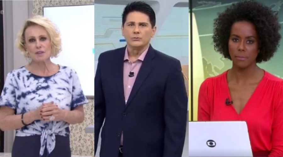 Ana Maria Braga, César Filho e Maju Coutinho. Foto: Reprodução AUDIÊNCIA, AUDIÊNCIAS gugu
