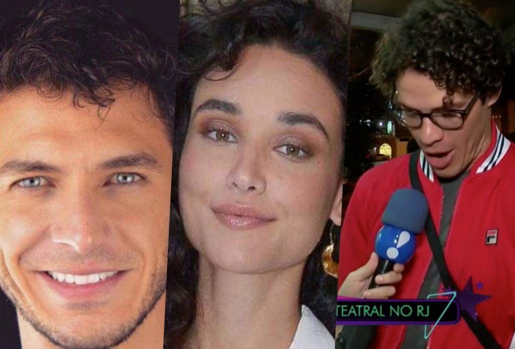 José Loreto abriu o jogo em programa da RedeTV sobre o que acha de Débora Nascimento ter um novo namorado bastante parecido com ele (Foto montagem: TV Foco)