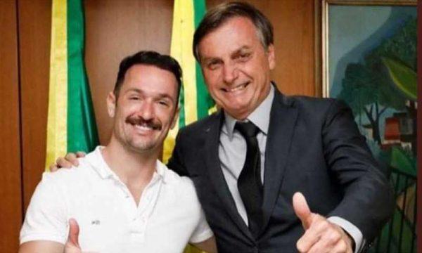 Diego Hypólito se encontra com Bolsonaro (Foto: Reprodução/ Instagram)