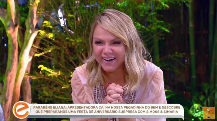 Eliana chora com a chegada surpresa de seus filhos em seu programa e explode em audiência