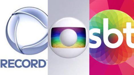 Logo Record, Globo e SBT. Foto: Reprodução