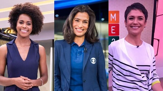 Apresentadoras que concorrem na categoria Jornalista. Foto: Reprodução