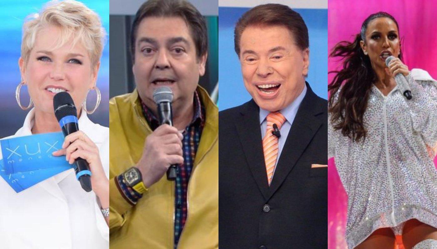 Xuxa, Faustão, Silvio Santos e Ivete Sangalo. Foto: Reprodução