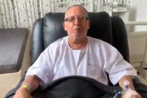 O apresentador Galvão Bueno apareceu em vídeo na tela da Globo (Foto: Reprodução)