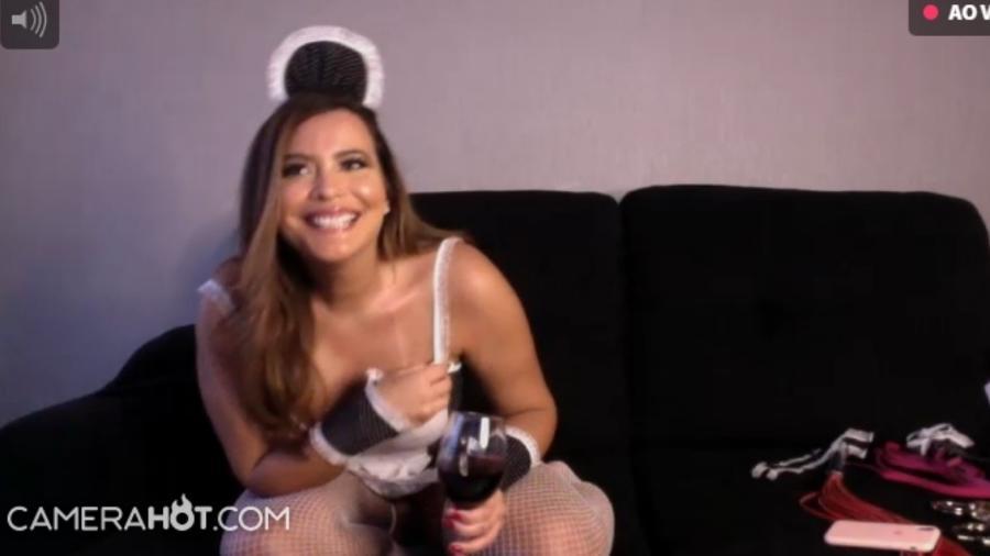 Geisy Arruda surge em live em site pornô, tira a roupa e imagens vazam - imagem: reprodução Instagram anitta