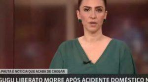 GloboNews, canal pago da Globo, noticiou a morte de Gugu Liberato