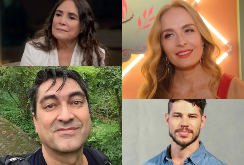 Angélica, José Loreto, Regina Duarte e Zeca Camargo estariam em lista da Globo (Foto montagem: TV Foco)