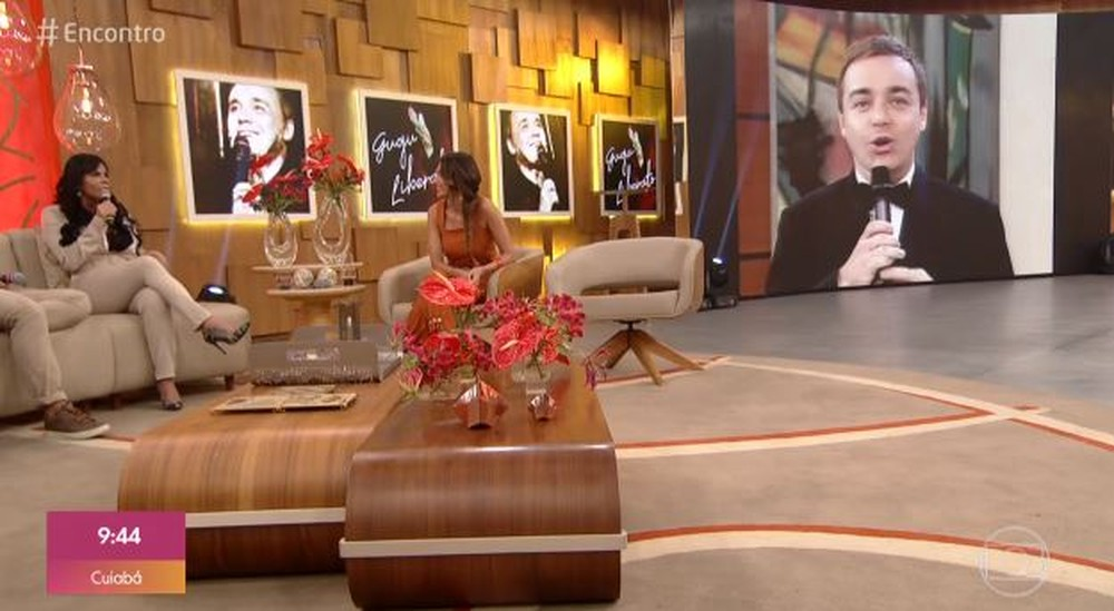 O apresentador Gugu Liberato foi pauta do Encontro (Foto: Reprodução)