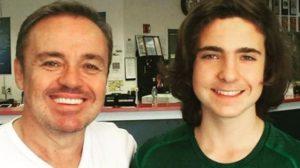 Gugu Liberato e o filho, João Augusto Foto:Instagram