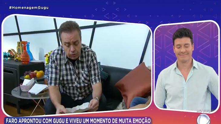 Gugu e Rodrigo Faro durante o Hora do Faro especial (Foto: Reprodução)