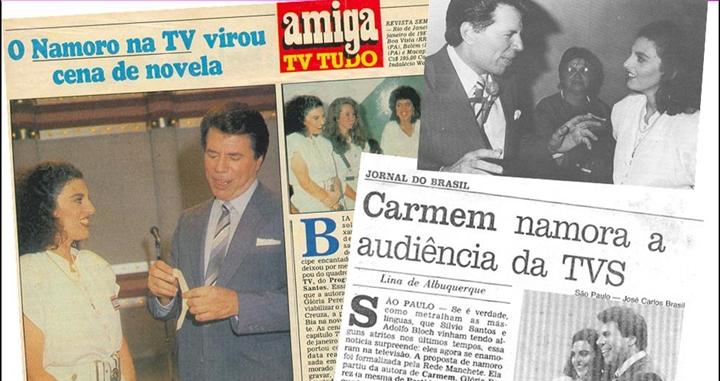 Participação de Silvio Santos na novela ganhou destaque em revista e jornais da época. (Foto: Reprodução/O Baú do Silvio/Blog Bia Sion)