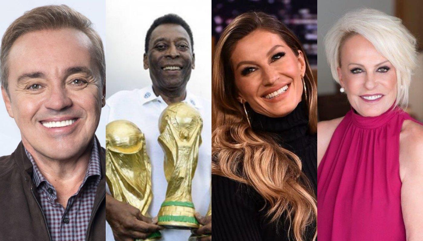 Gugu Liberato, Pelé, Gisele e Ana Maria Braga. Foto: Reprodução