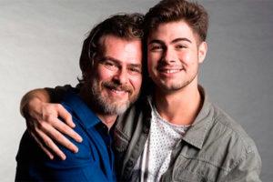 João Vitti e o filho, Rafael Vitti (Foto: Reprodução)