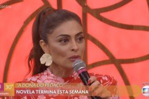 Juliana Paes foi convidada do Encontro com Fátima Bernardes na Globo