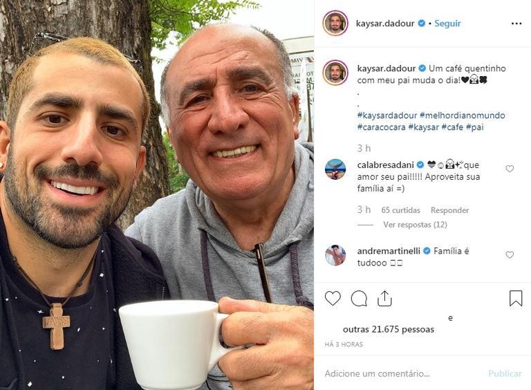 Kaysar posa com o pai e semelhança impressiona Reprodução/Instagram