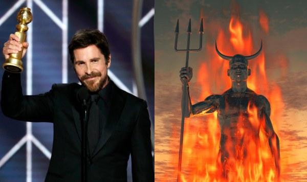 Christian Bale diz que Satã foi a inspiração dele para ganhar o Globo de Ouro (Foto: Reprodução)