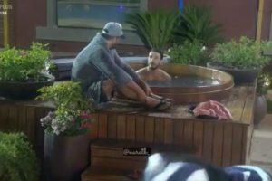 Lucas volta para sede em A Fazenda (Foto: Reprodução)
