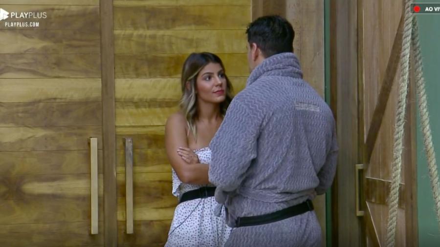 Hariany Almeida e Lucas Viana tiveram várias discussões em A Fazenda 11 (Reprodução: PlayPlus/Record TV)