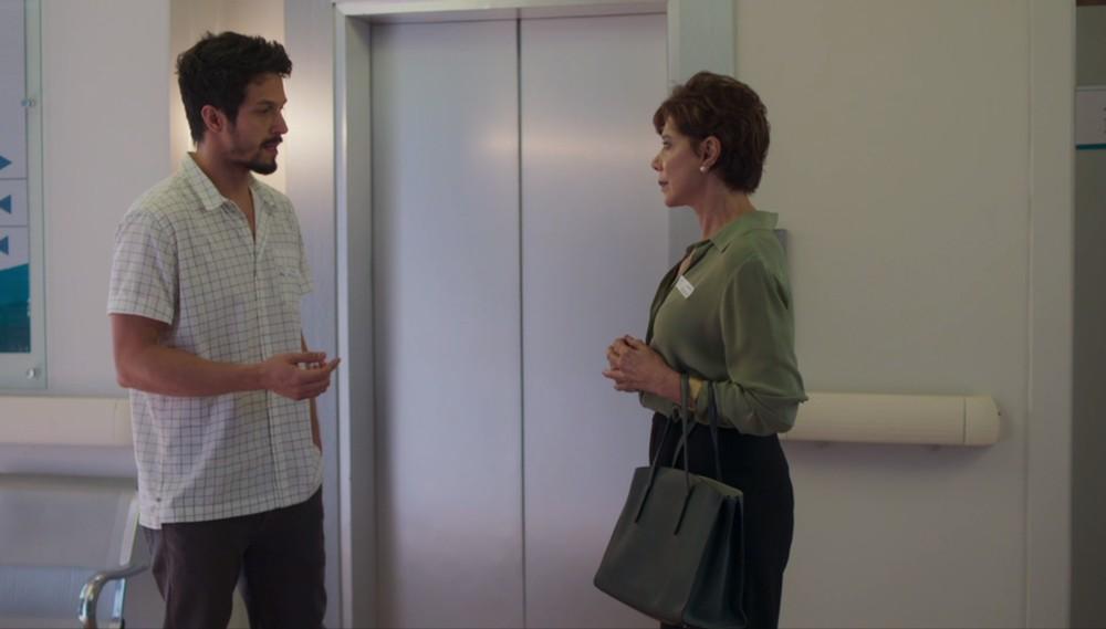 Marcos e Vera em cena da novela Bom Sucesso (Foto: Reprodução)