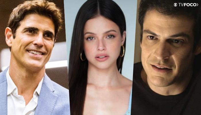 Mateus Solano entra na vida de Régis e Josiane para abalar as estruturas em A Dona do Pedaço, fotomontagem com os atores
