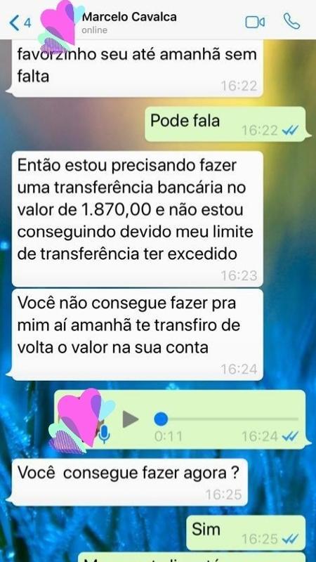 Conversa entre Marcelo Cavalco e Xuxa. Foto: Reprodução