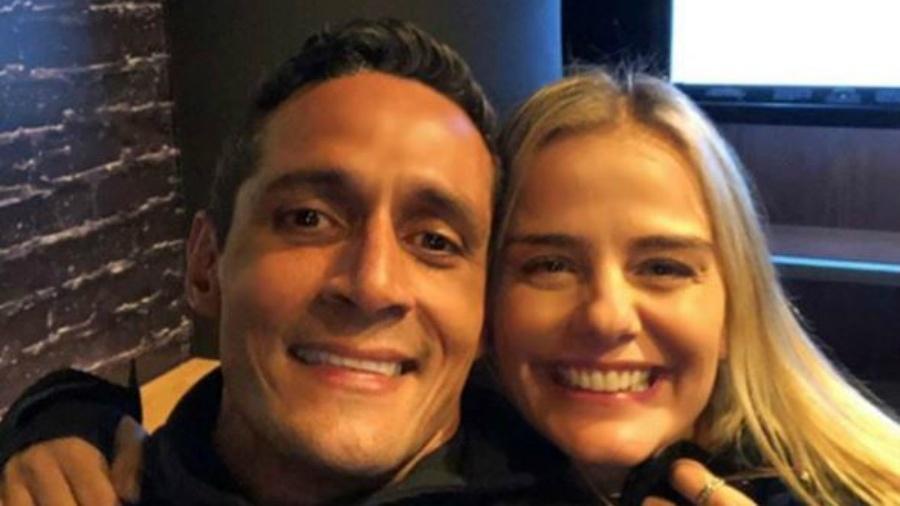 Milene Domingues e o seu novo namorado André Luiz (Imagem: Instagram)