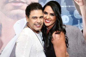 O cantor Zezé di Camargo e a parceira Gracielle Lacerda (Foto: Reprodução)