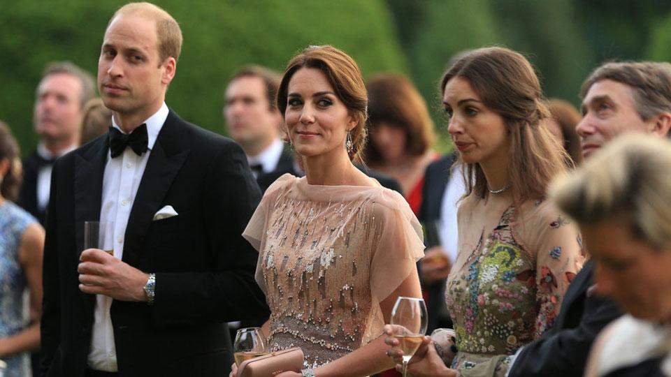William, Kate Middleton e Rose Hanbury (Foto: Reprodução)