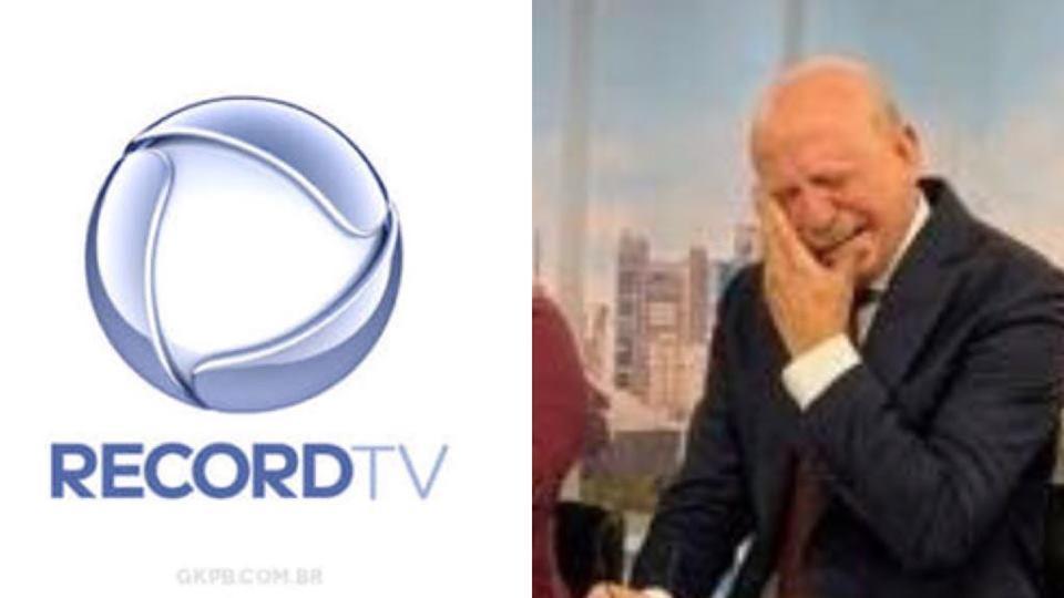 Renato Lombardi vai às lágrimas na Record (Imagem Reprodução)