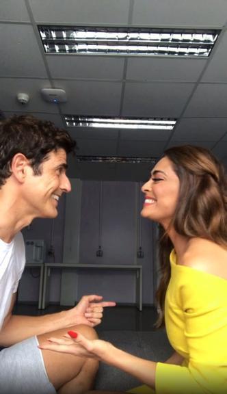 Reynaldo Gianecchini se declara para Juliana Paes: ''Te amo para sempre'' (Divulgação/Globo)
