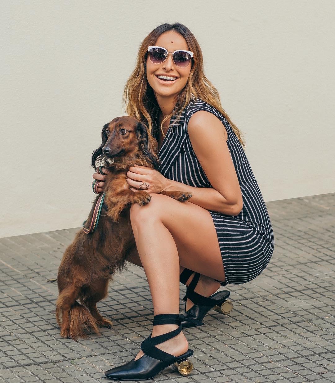 Sabrina Sato e Bernardo, seu cachorro. Foto: Reprodução